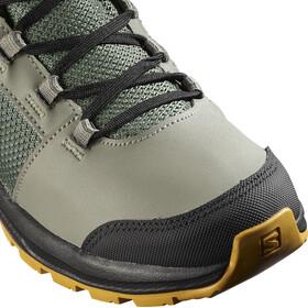 Salomon OUTward CSWP Shoes Kids, castor gray/black/arrow wood